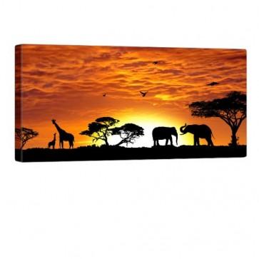 African Ambiance Leinwanddruck 100x50cm