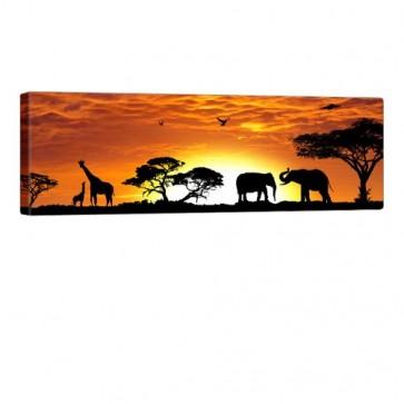 African Ambiance Leinwand Druck 120x40cm