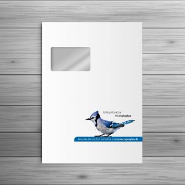 reproplan Briefumschlag C4 - mit Fenster rechts oben