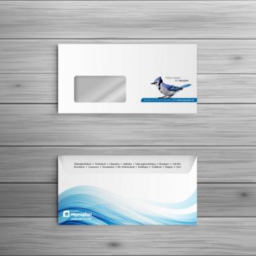 reproplan Briefumschlag DIN Lang - Fenster rechts