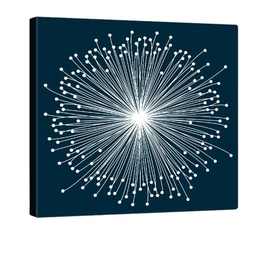 blue bloom druck auf leinwand 80x80cm. Black Bedroom Furniture Sets. Home Design Ideas