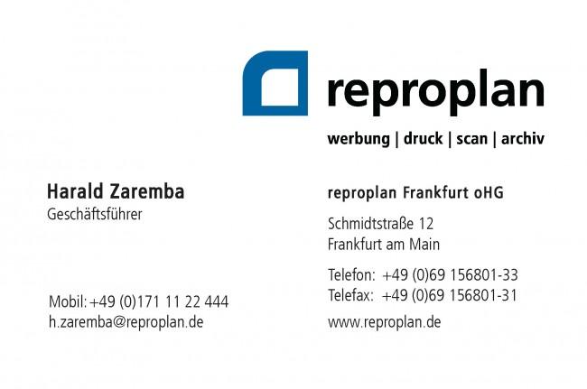 Qr Code Reproplan Visitenkarten