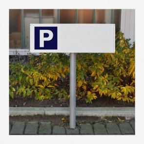 Parkplatzschild 60x20 cm – Stehend (Set) bei reproplan