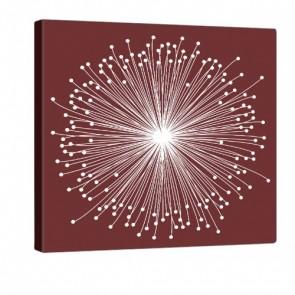 Red Bloom Leinwand Bild 80x80cm