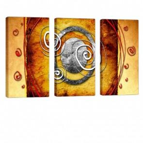 Spirals Leinwandbild 3x 40x80cm