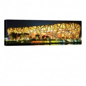 Beijing Stadium Leinwandbild 120x40cm