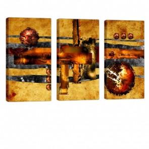 Abstract Diversity Leinwanddruck 3x 40x80cm