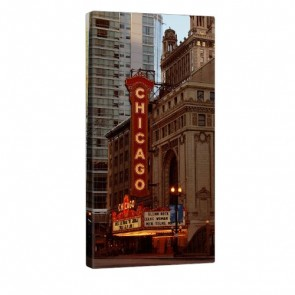 Chicago Theatre Leinwandbild 50x100cm