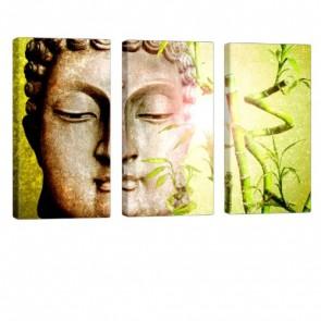 Buddha Shine Leinwanddruck 3x 40x80cm