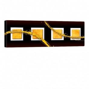 Four Cubes Leinwandbild 120x40cm