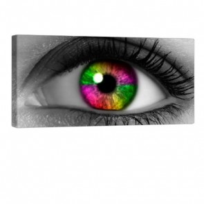 Colorful Eye Leinwand Bild 100x50cm