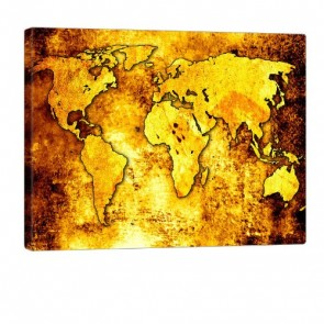 The Whole World Leinwanddruck 100x80cm