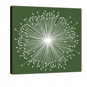 Green Bloom Leinwand Bild 80x80cm