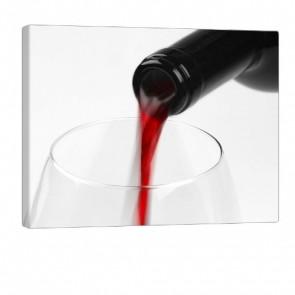 Red Wine Druck auf Leinwand 100x80cm