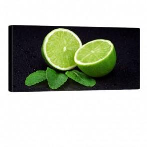 Lime Green Leinwandbild 100x50cm