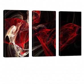 Digital Veins Leinwandbild 3x 40x80cm