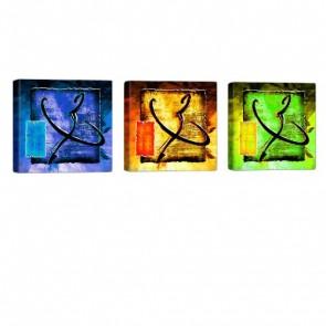 Colorful Signs Leinwand Bild 3x 40x40cm