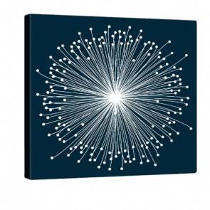Blue Bloom Druck auf Leinwand 80x80cm