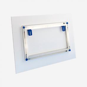 Galerierahmensystem aus Aluminium bei reproplan