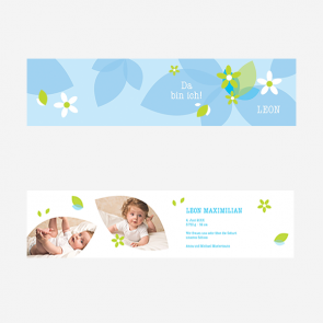 Geburtskarte - Jungs - reproplan
