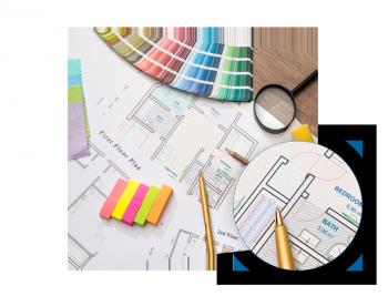 CAD Plot farbig