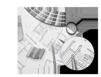 CAD Plot schwarz/weiß