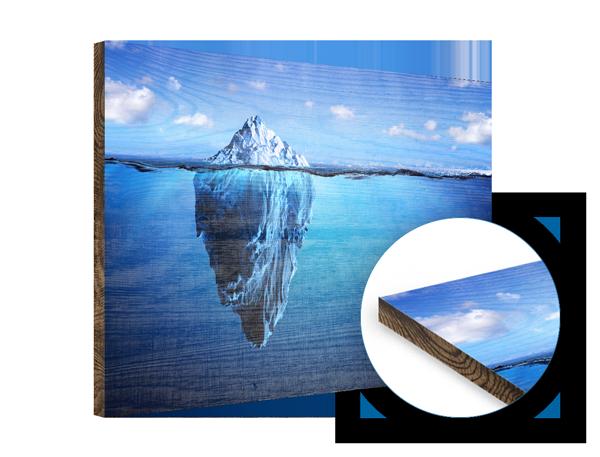 Holzdruck mit individuellem Foto-Motiv